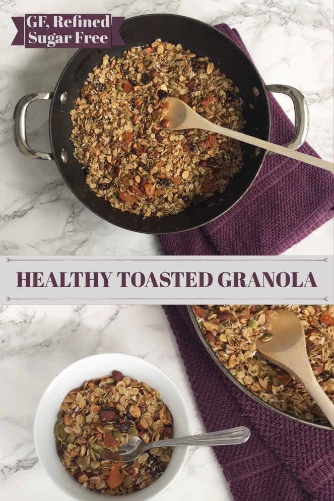 healthy toasted granola pinterest